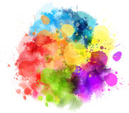 Multicolored blot Stock Photos