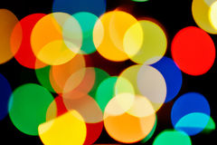 Multicolored blurred lights Stock Photos