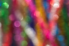 Multicolored blurred lights background. With bokeh Royalty Free Stock Photo