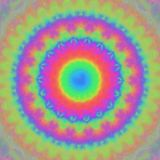 Multicolored blurred symmetrical background, kaleidoscope style royalty free illustration