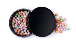 Multicolored blush balls in a black box Royalty Free Stock Photo