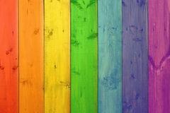 Multicolored boards in colores of spectrum Stock Photography