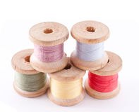 Multicolored bobbin threads Royalty Free Stock Photography