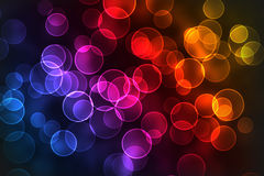 Multicolored bokeh background Royalty Free Stock Image