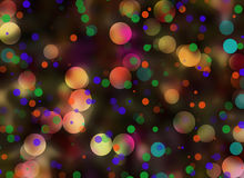 Multicolored Bokeh backgrounds in Chaotic Arrangement Stock Photos