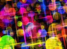 Multicolored bokeh backgrounds of Round Shapes Stock Photography