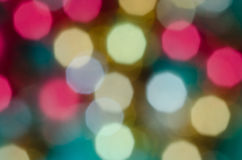 Multicolored bokeh lights background Stock Image