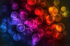 Multicolored bokehachtergrond Royalty-vrije Stock Afbeelding