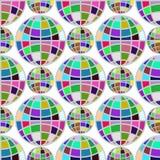Multicolored bol naadloos patroon op witte achtergrond Stock Foto
