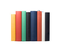 Multicolored book backs Stock Photos