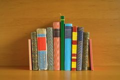 Multicolored books Royalty Free Stock Photo