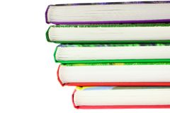 Multicolored books stack isolated Royalty Free Stock Photos