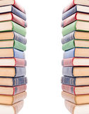 Multicolored books stack isolated. Royalty Free Stock Image