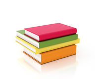 Multicolored books tower isolated on white background Royalty Free Stock Photos