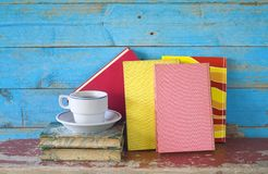 Multicolored books Stock Photography