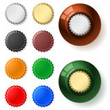 Multicolored  bottle cap Stock Photos