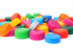 Multicolored bottle caps Royalty Free Stock Photo