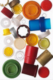 Multicolored bottle caps Royalty Free Stock Image