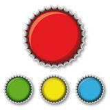 Multicolored bottle caps Stock Image