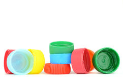 Multicolored bottle caps Royalty Free Stock Photos