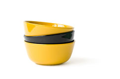 Multicolored bowls Stock Photography