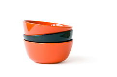 Multicolored bowls Royalty Free Stock Images