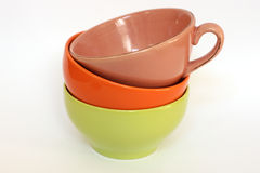 Multicolored bowls Royalty Free Stock Photos