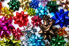 Multicolored bows Stock Photos