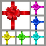 Multicolored bows of ribbon Royalty Free Stock Image