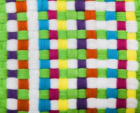 Multicolored Braided Texture Royalty Free Stock Image