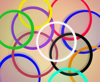 Multicolored bright abstract rings Stock Photo