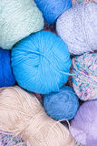 Multicolored bright balls of yarn Royalty Free Stock Images