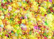 Multicolored bright bubbles texture. In Chaotic Arrangement Royalty Free Stock Photography