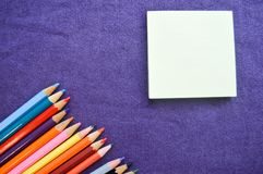 Multicolored, bright, colorful pencils for drawing royalty free stock photography