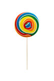 Multicolored bright delicious lolipop. Multicolored bright delicious lolipop isolate on white stock photography