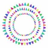 Multicolored bright flag composition. Watercolor Stock Photo