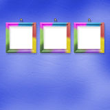 Multicolored bright frames hanging Stock Photos