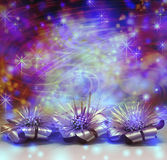 Multicolored bright fun Christmas decoration background Royalty Free Stock Photos