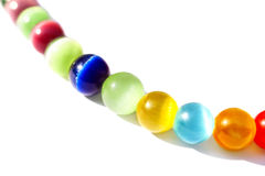 Multicolored bright glass beads Stock Image