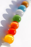 Multicolored bright glass beads Royalty Free Stock Photography