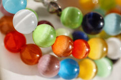 Multicolored bright glass beads Stock Photos