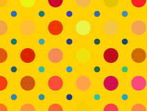 Multicolored bright polka dots pattern. Abstract backgrounds Stock Photography