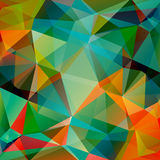 Multicolored bright polygonal background Royalty Free Stock Photo