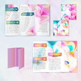 Multicolored brochure template Royalty Free Stock Photos