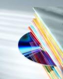 Multicolored brochures en schijf Stock Afbeeldingen