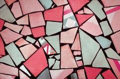 Multicolored broken pieces of tiles Stock Photo