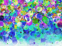 Multicolored bubble abstract background. Stock Images