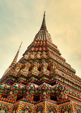 Multicolored Buddhist temple Royalty Free Stock Images