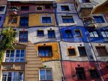 Multicolored building. Unusual multicolored building in Vienna royalty free stock image