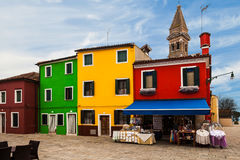 Multicolored Buildings, Burano, Italy Royalty Free Stock Image